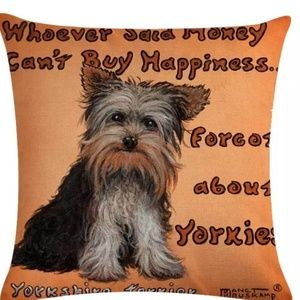 Other - Pillow Cover- New- Yorkie Pillow Cover